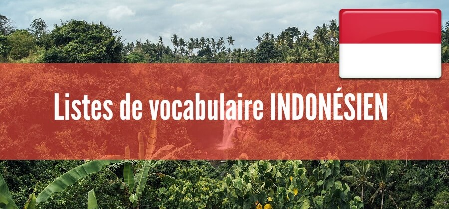 fiches listes de vocabulaire indonesien pdf
