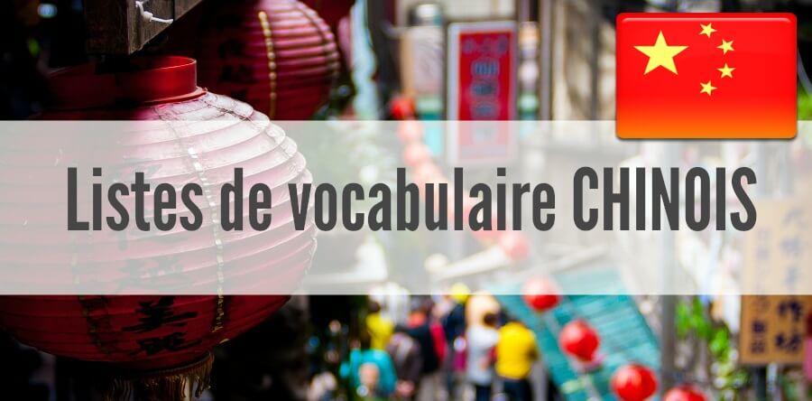 fiches listes vocabulaire chinois pdf
