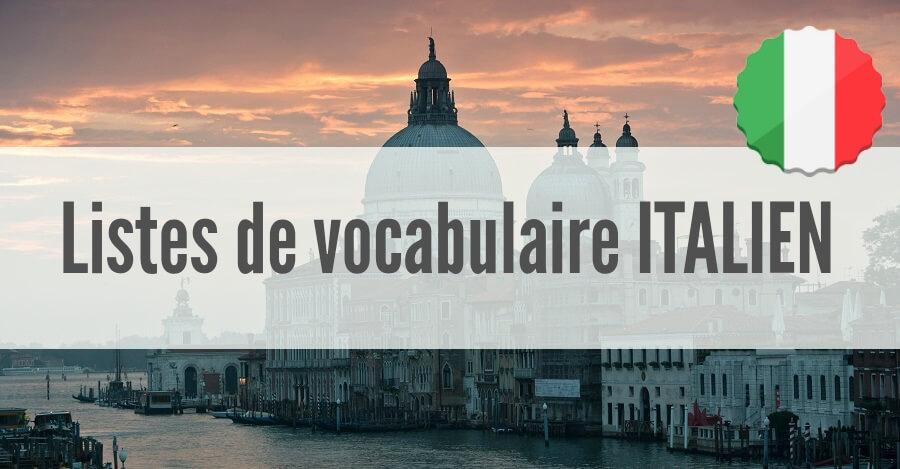 liste vocabulaire italien pdf
