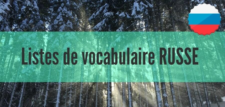 liste vocabulaire russe pdf